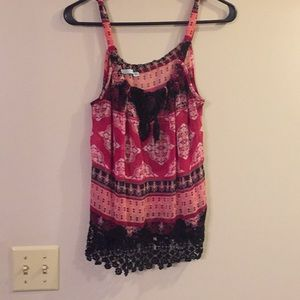 Lace Trim sheer tank